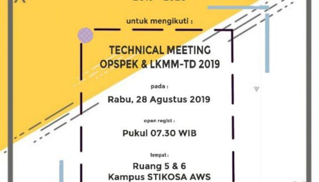 Technical Meeting Opspek dan LKMM-TD 2019
