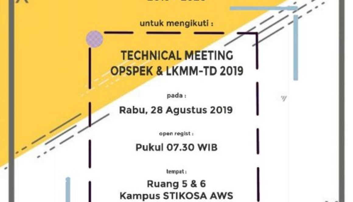 Technical Meeting Opspek dan LKMM-TD 2019