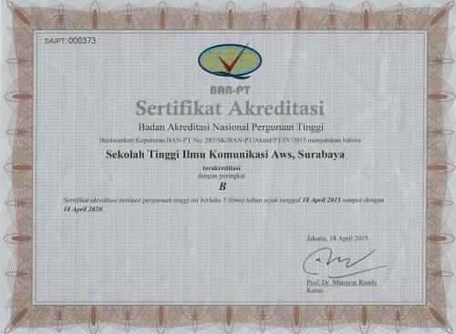 Akreditasi Stikosa-AWS