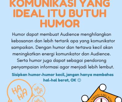 KOMUNIKASI YANG IDEAL ITU BUTUH HUMOR(1)